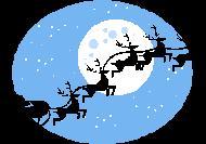 Santa in sky